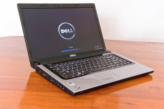 Dell Laptop on desk